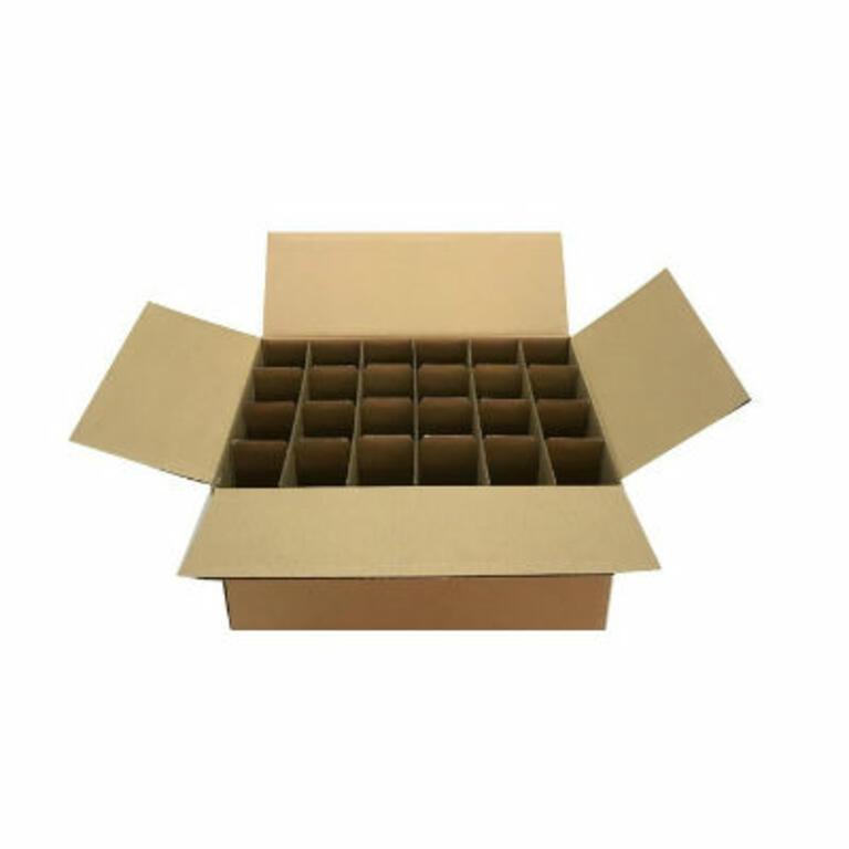 Caixa cartão p/24 vasos de 250gr. c/separa