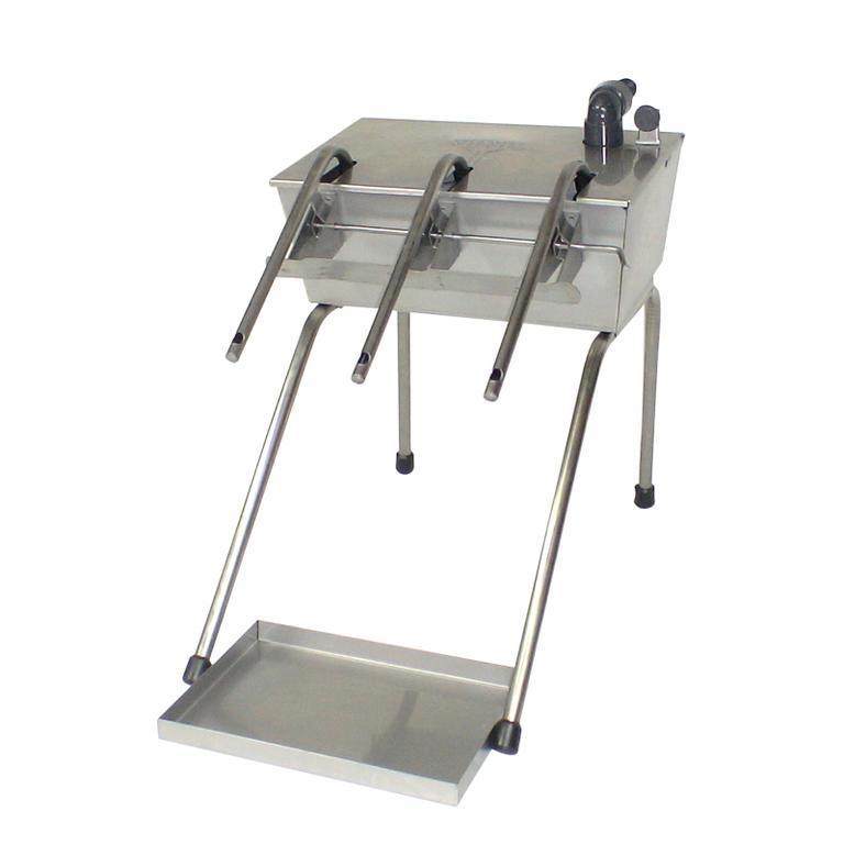 Enchedor automatico com tampa e tabuleiro inox 6 b
