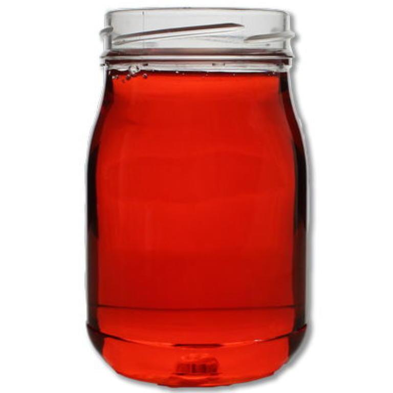 Vaso PET 370ml/500gr mel TO63 branca