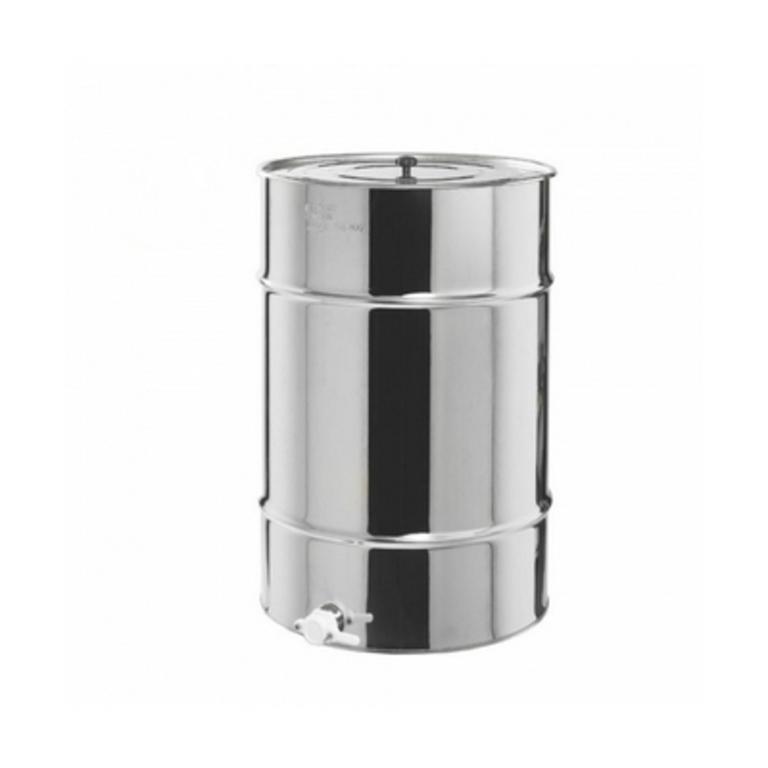 Bidão aço inox p/ 200 kg mel