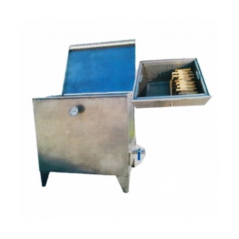 Caldeira a gás p/cozer cera 120 Lit. quadrada