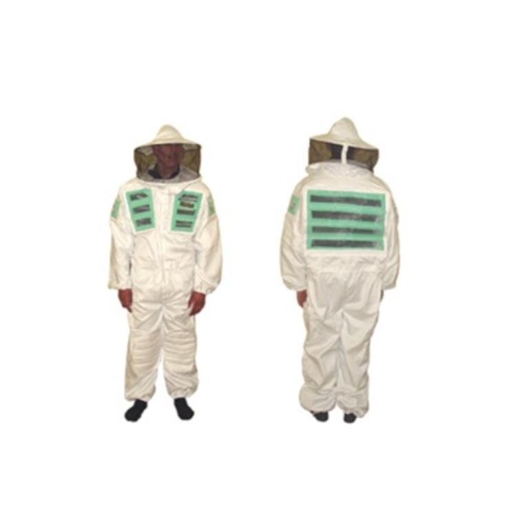 Fato apicultor ventilado pano duplo verde c/2 másc