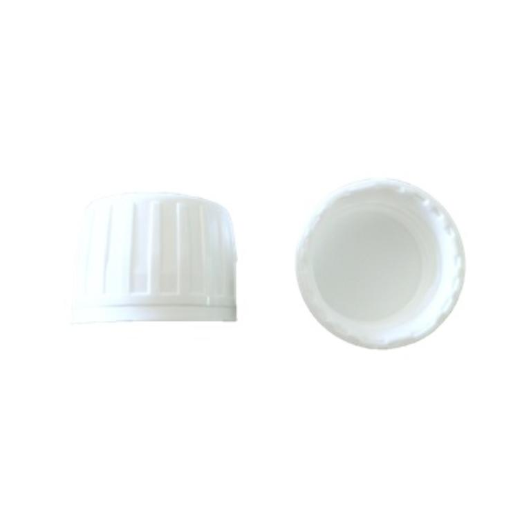 Tampa plástica PP28 p/frasco ambar