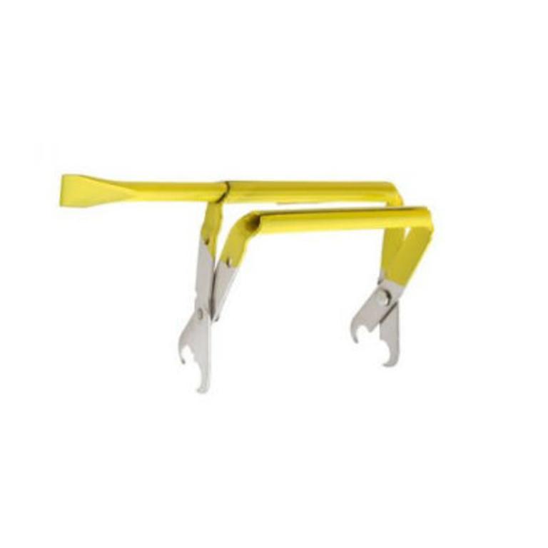 Levanta quadros c/formão (inox) amarelo