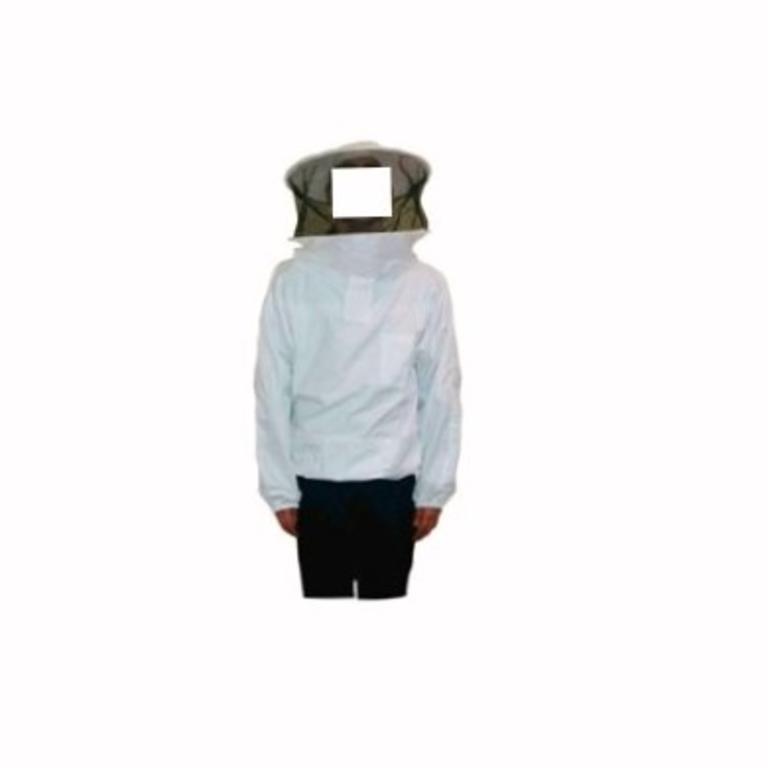Casaco apicultor c/máscara redonda zip/frente (AP0