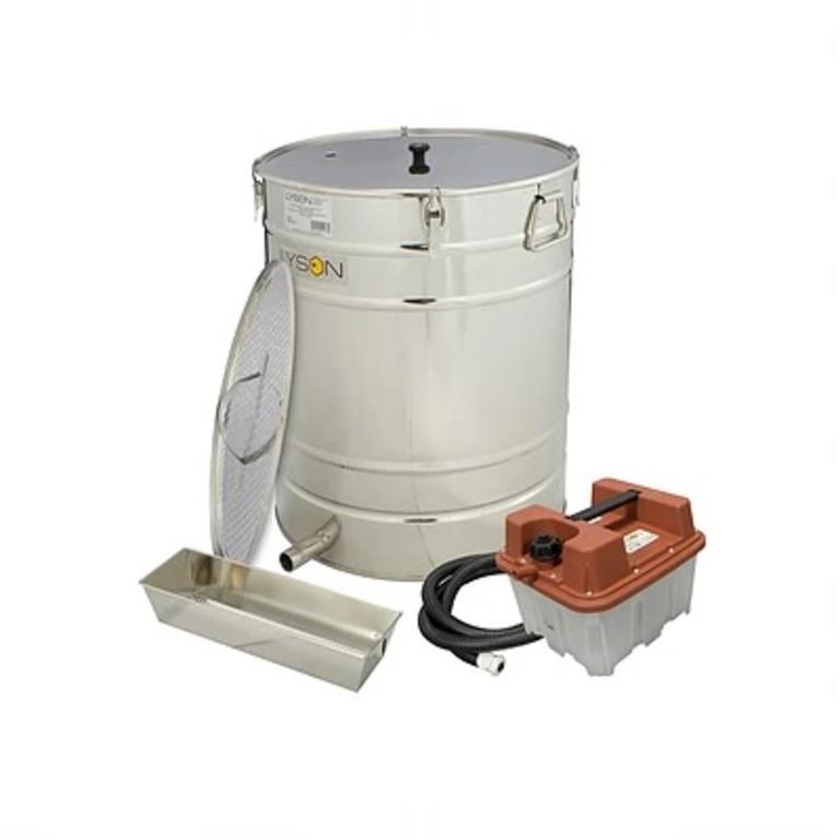 Caldeira eléctrica p/cozer cera 110 lt redonda