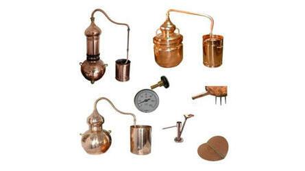 Alambiques em cobre e acessórios