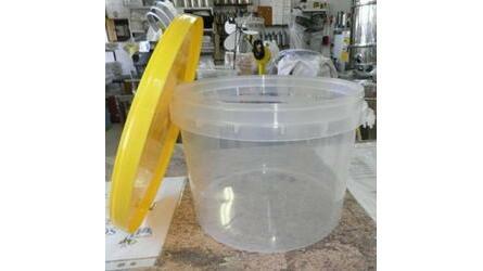 Balde plástico alimentar c/tampa 8 Lit.