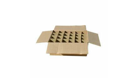 Caixa cartão p/24 vasos de 1/2kg c/separad.