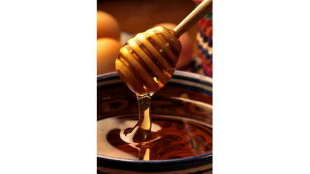 Colher madeira para mel