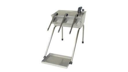 Enchedor automatico com tampa e tabuleiro inox 2 b