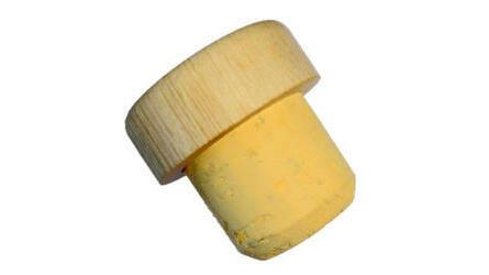 Rolha cortiça c/ capsula madeira 28x28