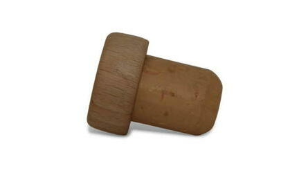Rolha cortiça c/cápsula madeira 27x16