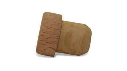 Rolha cortiça c/cápsula madeira 27x21