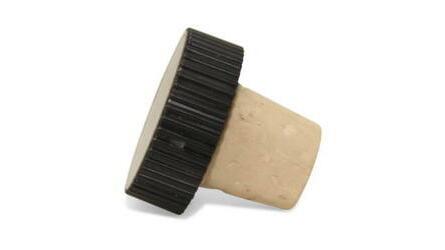 Rolha cortiça cápsula plástica preta 23x18x14