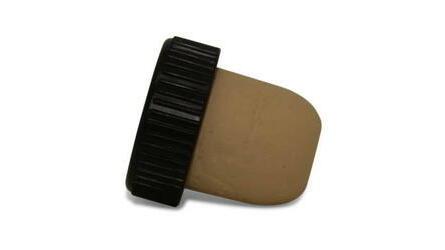 Rolha cortiça cápsula plástica preta 27x20