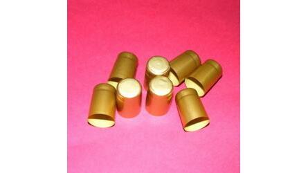 Selo retráctil PVC mini dourado c/ topo