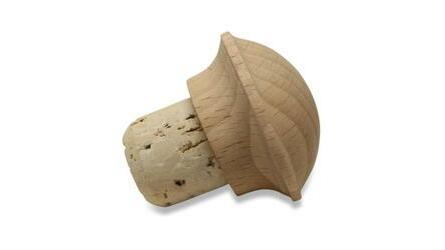 Rolha especial cogumelo de madeira